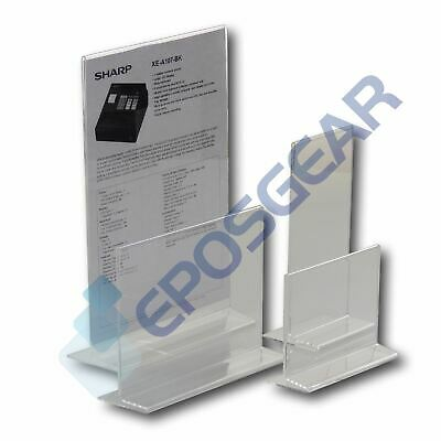 A4 A5 A6 DL Double Sided Acrylic Perspex Menu Sign Display Holder Counter Stand