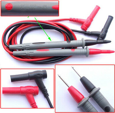 1 pairs AC DC 20A Clamp MultiMeter PROBES MULTIMETER TEST Cables