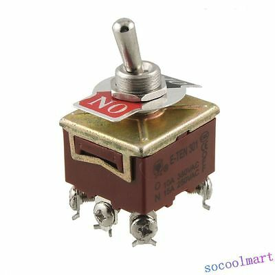 3PST 6 Terminals On-Off 2 Position Toggle Switch AC 15A/250V 10A/380V