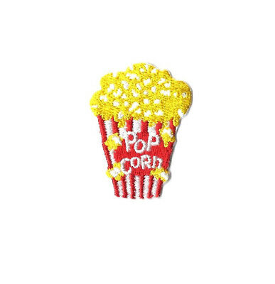 "Popcorn - Movie Snack -  Embroidered Iron On Applique Patch -  1 7/8""H (4.8cm)"
