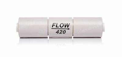 "Inline Flow Restrictor 420 - 1/4"" Pushfit  Reverse Osmosis for use with 100GPD"