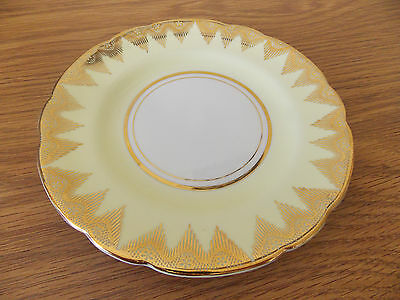 Vintage Antique Collectable Regency Yellow Plate