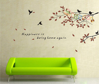 Wall Decal Sticker Happiness birds branches
