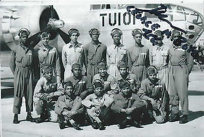 George M. Boyd 4x6 Signed Photo Tuskegee Airmen WWII 332nd Fighter Group