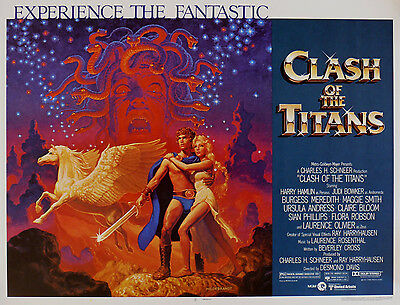 """CLASH OF THE TITANS ""  With Harry Hamlin Classic Movie Poster A1 A2 A3 A4Sizes"