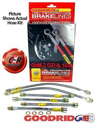 Golf Mk2 GTI/16V Goodridge Braided Brake Hose Lines: G2 - SVW0600-6P 6 lines VW
