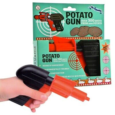 POTATO SPUD GUN SHOOTER PISTOL -  Retro Fun Safe Kids Gift Toy **FREE DELIVERY**