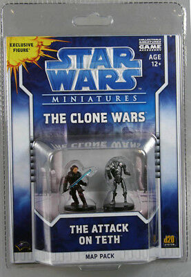 Star Wars Miniatures the Clone Wars. The Attack on Teth Map Pack. 2 Figur