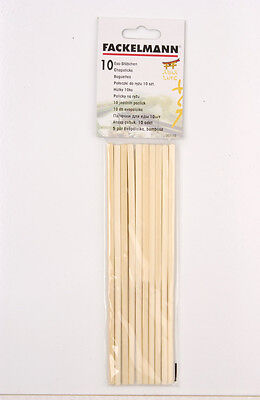 10 x Chinese Reusable Bamboo Wooden Chopsticks - FREE UK POSTAGE