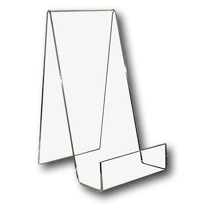5 Large Clear Perspex Acrylic Plastic Book Plate Retail Display Stand Holder