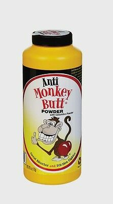 New! 6oz ANTI MONKEY BUTT Anti Friction Pain Itch Calamine Powder Sweat Absorber