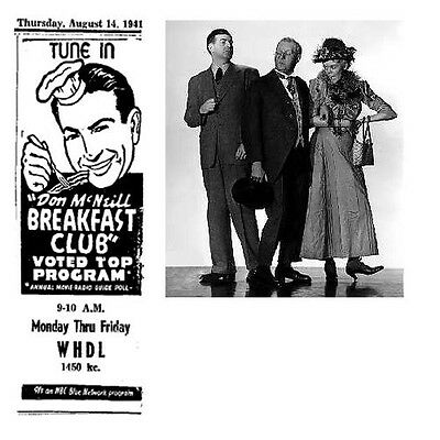 BREAKFAST CLUB (1937-1968) OLD TIME RADIO-CD-ROM - 31 mp3 - Total Time 15:58:29