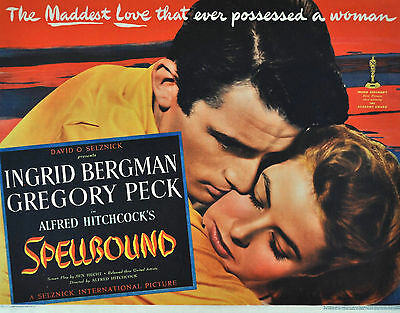 """""""SPELLBOUND"""" Ingrid Bergman Gregory Peck Classic Movie Poster A1A2A3A4Sizes"""