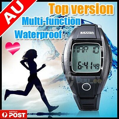 New Advanced Pulse Heart Rate Monitor Sports Watch Calorie Counter 8-in-1Fitness