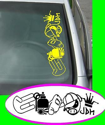 Kommst du och ausm Osten JDM Sticker Aufkleber oem Power fun like Shocker Hater