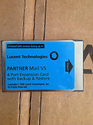 Lucent Partner Mail VS 4 Port Expansion Card With Backup & Restore