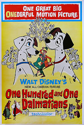 """""""101 DALMATIONS""""..Classic Disney Animated Movie Poster A1A2A3A4Sizes"""