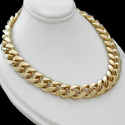 """11mm ROUNDED CURB Link 14k GOLD Layered 24"""" Necklace 116g + LIFETIME GUARANTEE"""