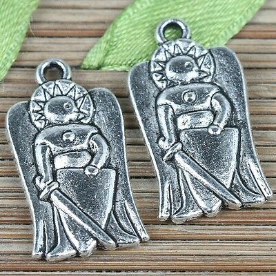12pcs tibetan silver color 22*11.8mm soldiers charms EF0266