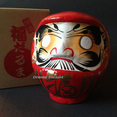"""Japanese 6"""" Classical Red Daruma Doll for Luck & Good Fortune 7003 Made in Japan"""