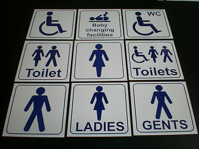 TOILET sign 150x150 Ladies Gents Disabled Baby changing male female, pub, shop