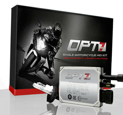 OPT7 35w HID KIT Motorcycle 9003 H4 Hi-Lo 6000K BLUE Light XENON Conversion