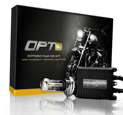 OPT7 AC SLIM HID KIT Motorcycle 9003 H4 Bi-Xenon 5000K WHITE Light Conversion