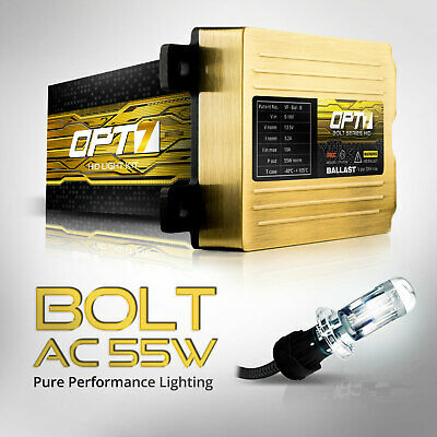 OPT7 AC 55w HID KIT Motorcycle 9003 H4 Bi-Xenon 5000K WHITE Light Conversion