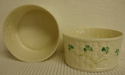 Belleek-Ireland SHAMROCK All-Purpose Bowl -BEST- Many Available BLUE BACK STAMP