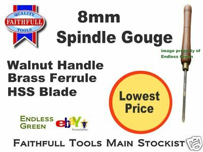 8mm Spindle Gouge  Ideal for Record Woodturning Lathe - woodturners tool -  8mm