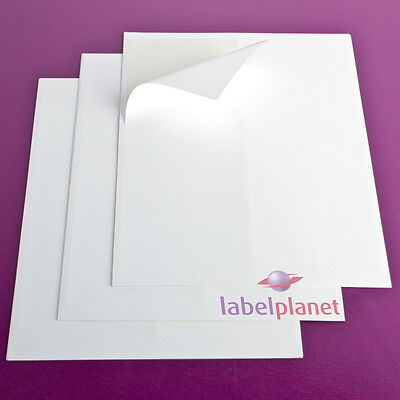 A4 Sheet Matt White Polyester Self-Adhesive WATERPROOF Laser Labels Label Planet