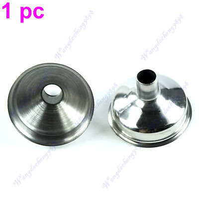 1Pc 8mm Stainless Steel Wine Funnel For All Hip Flasks Flask Filler Wine Pot NIC