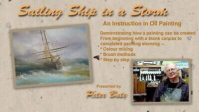Art Lesson Dvd - Sailing Ship In A Storm
