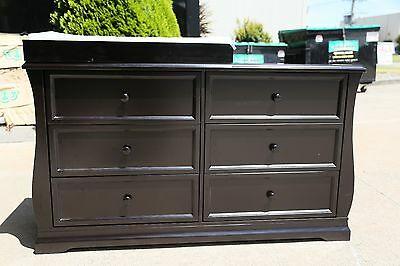 Brand new baby change table/changer / chest of drawers in dark brown finish