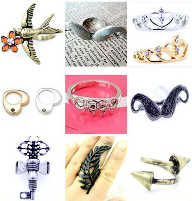 Lovely crystal crown ring multiple choices