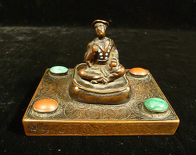 Fabulous 18Th Or 19Th Century Chinese Solid Bronze Jeweled Figurine