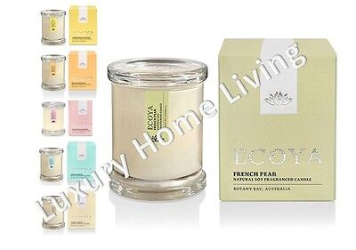 ECOYA Candle: FRENCH PEAR Fragrance Natural Soy Wax Mini Metro Gift Boxed travel