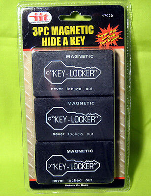 Set of 3 Hide-A-Key Magnetic Key Holder Lock Out Safety