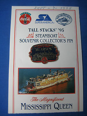 Vintage Tall Stacks 1995 Souvenir Collectors Pin Mississippi Queen