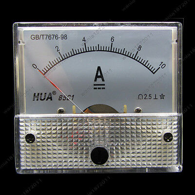 DC 10A Analog Ammeter Panel AMP Current Meter 85C1 0-10A DC Doesn't Need Shunt