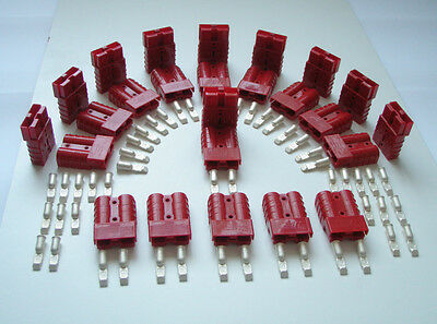 25 x RED GENUINE ANDERSON SB50 AMP BATTERY POWER CONNECTORS - 10 SQ MM TERMINALS