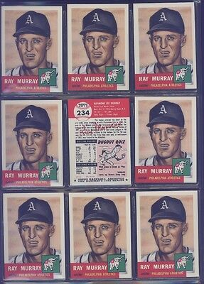1991 Topps Archives 1953 #234 Ray Murray Lot of 9 Athletics B54047