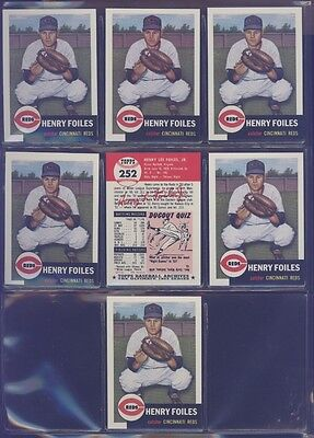 1991 Topps Archives 1953 #252 Hank Foiles Lot of 7 Reds B54063