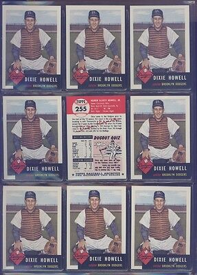 1991 Topps Archives 1953 #255 Dixie Howell Lot of 9 Dodgers B54064