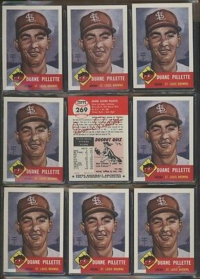 1991 Topps Archives 1953 #269 Duane Pillette Lot of 9 Browns B54074