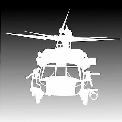 UH 60 Black Ops Helicopter Decal UH60 Blackhawk Chopper Sticker