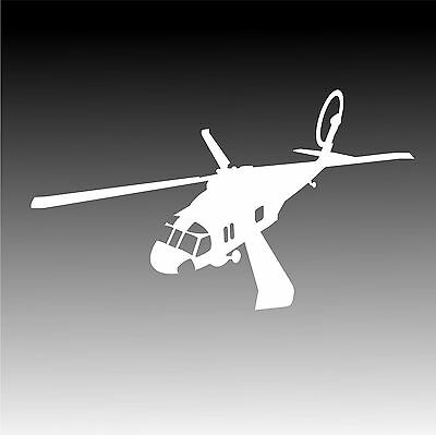 Uh60 blackhawk in flight decal uh 60 helicopter pilot crew sticker