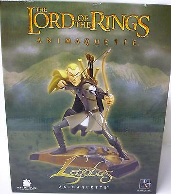 Lord of the Rings Legolas & Gimli 2 Animaquette Statues set Orlando Bloom .