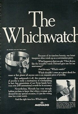 "1966 Movado Ladies ""WhichWatch""  PRINT AD"