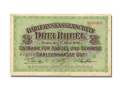 Banknoten Germany, 3 Roubles Type Occupated Lituania